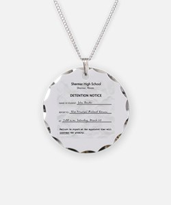 'Breakfast Club Detention' Necklace