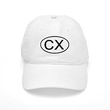 CX - Initial Oval Baseball Baseball Cap