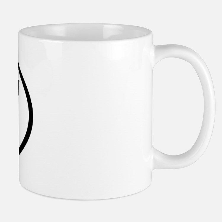CW - Initial Oval Mug