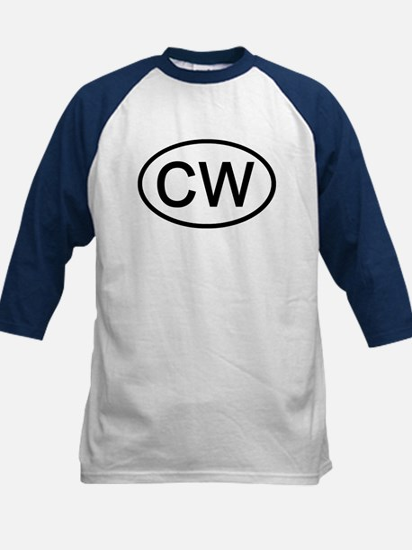 CW - Initial Oval Kids Baseball Jersey
