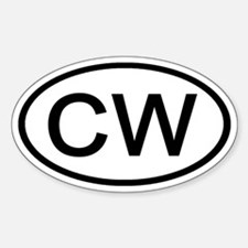 CW - Initial Oval Oval Decal