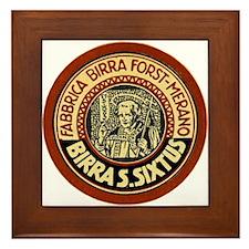 Italy Beer Label 1 Framed Tile