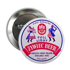 "Poland Beer Label 2 2.25"" Button"