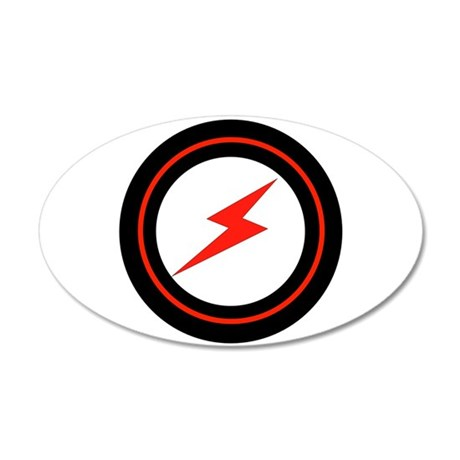 POWER ON 22x14 Oval Wall Peel