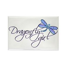 Dragonfly Girl Rectangle Magnet