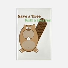 Save a Tree-White Rectangle Magnet