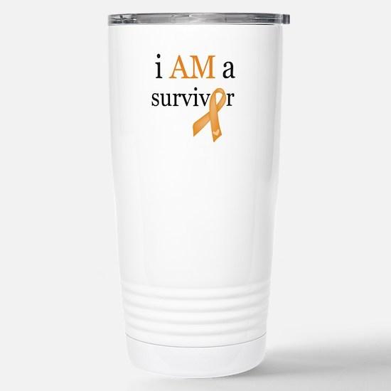 i AM a survivor (Orange) Stainless Steel Travel Mu