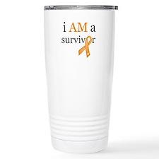 i AM a survivor (Orange) Travel Mug