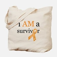 i AM a survivor (Orange) Tote Bag