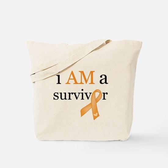 i AM a survivor (Orange) Tote Bag