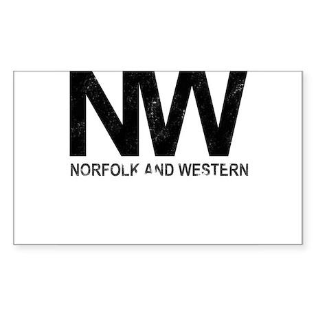 Norfolk & Western Vintage Sticker (Rectangle)