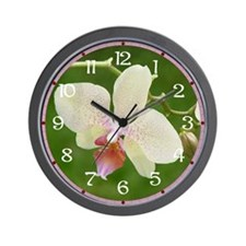 Powder Pink Orchids Wall Clock