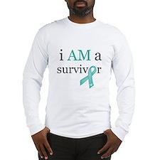 i AM a survivor (Teal) Long Sleeve T-Shirt