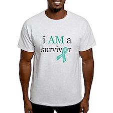 i AM a survivor (Teal) T-Shirt