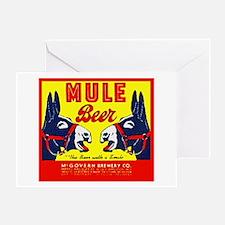 Missouri Beer Label 1 Greeting Card