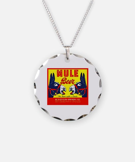 Missouri Beer Label 1 Necklace Circle Charm