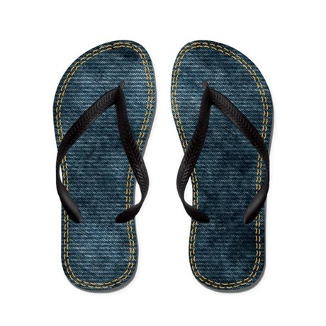 Double stitched Denim Flip Flops