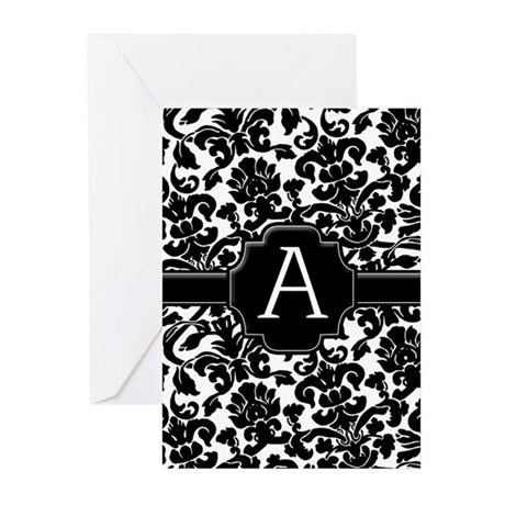 Monogram Letter A Greeting Cards (Pk of 10)