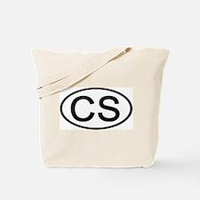 CS - Initial Oval Tote Bag
