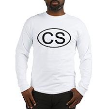 CS - Initial Oval Long Sleeve T-Shirt