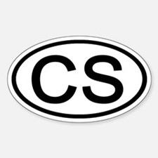 CS - Initial Oval Oval Decal