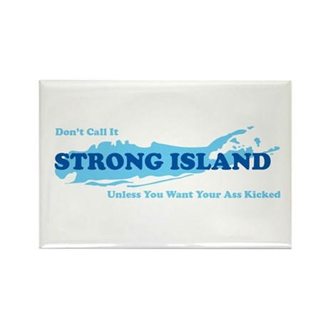 Strong Island - BLUE Rectangle Magnet (10 pack)