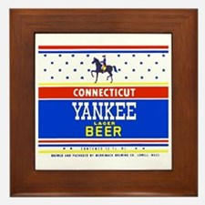 Massachusetts Beer Label 1 Framed Tile