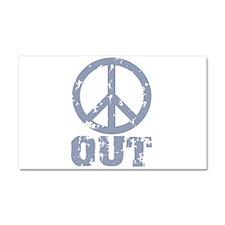 Peace Out Car Magnet 20 x 12