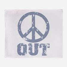Peace Out Throw Blanket