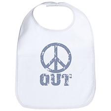 Peace Out Bib