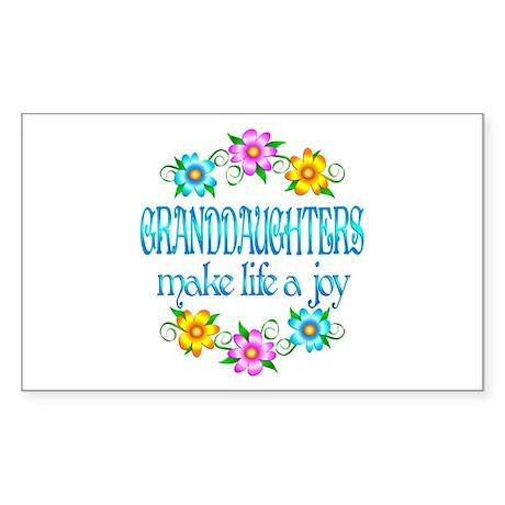 Granddaughter Joy Sticker (Rectangle)
