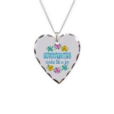 Granddaughter Joy Necklace Heart Charm