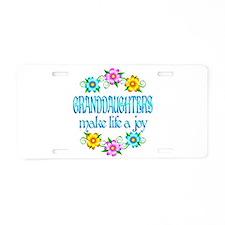 Granddaughter Joy Aluminum License Plate