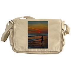 Sunset Silloette Messenger Bag