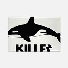 Killer Whale Rectangle Magnet