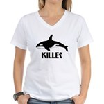 Killer Whale Women's V-Neck T-Shirt
