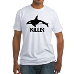 Killer Whale Fitted T-Shirt
