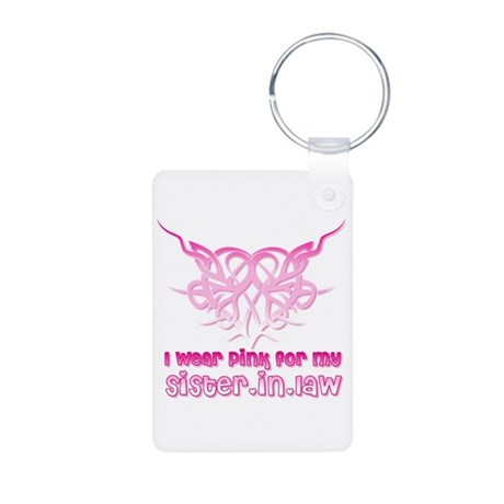 SISTER IN LAW Aluminum Photo Keychain