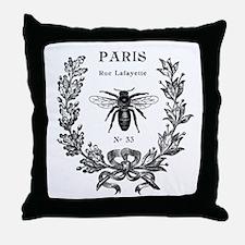 PARIS BEE Throw Pillow