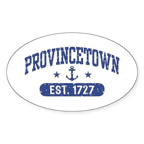 Provincetown Est. 1727 Sticker (Oval)
