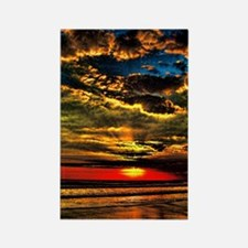 Painted Evening Sky Rectangle Magnet