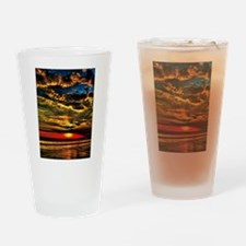 Painted Evening Sky Drinking Glass