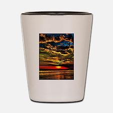 Painted Evening Sky Shot Glass