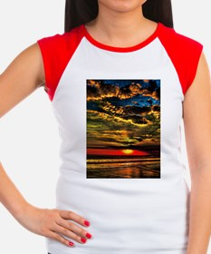 Painted Evening Sky Women's Cap Sleeve T-Shirt