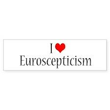 I Love Euroscepticism Bumper Car Sticker