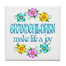 Grandchildren Joy Tile Coaster