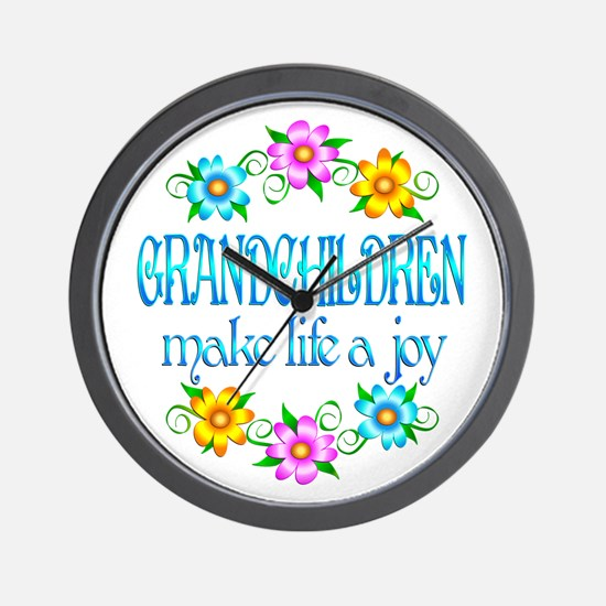 Grandchildren Joy Wall Clock