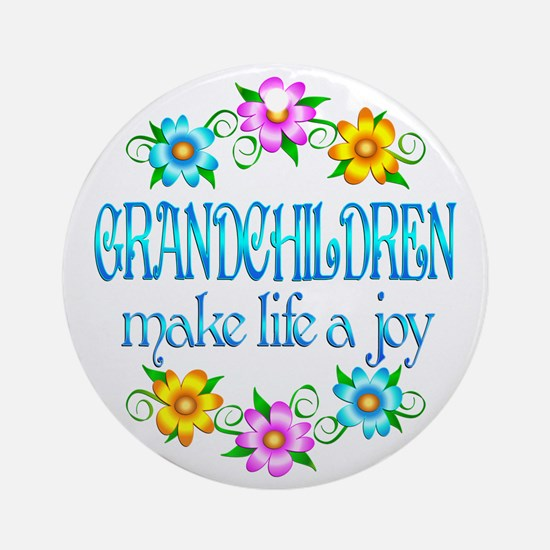 Grandchildren Joy Ornament (Round)