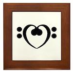 Bass Heart Framed Tile