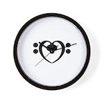 Bass Heart Wall Clock